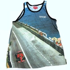 Supreme Grand Prix Tank Top ss14  box logo tee